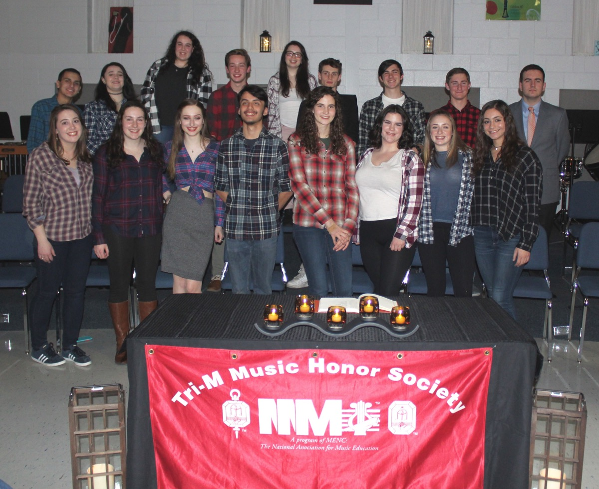 PVHS Tri-M Music Honor Society - Congratulations to all!