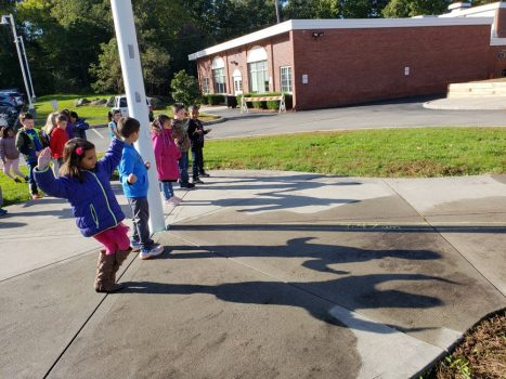 PVES first graders study the sun and shadows on a beautiful fall day.