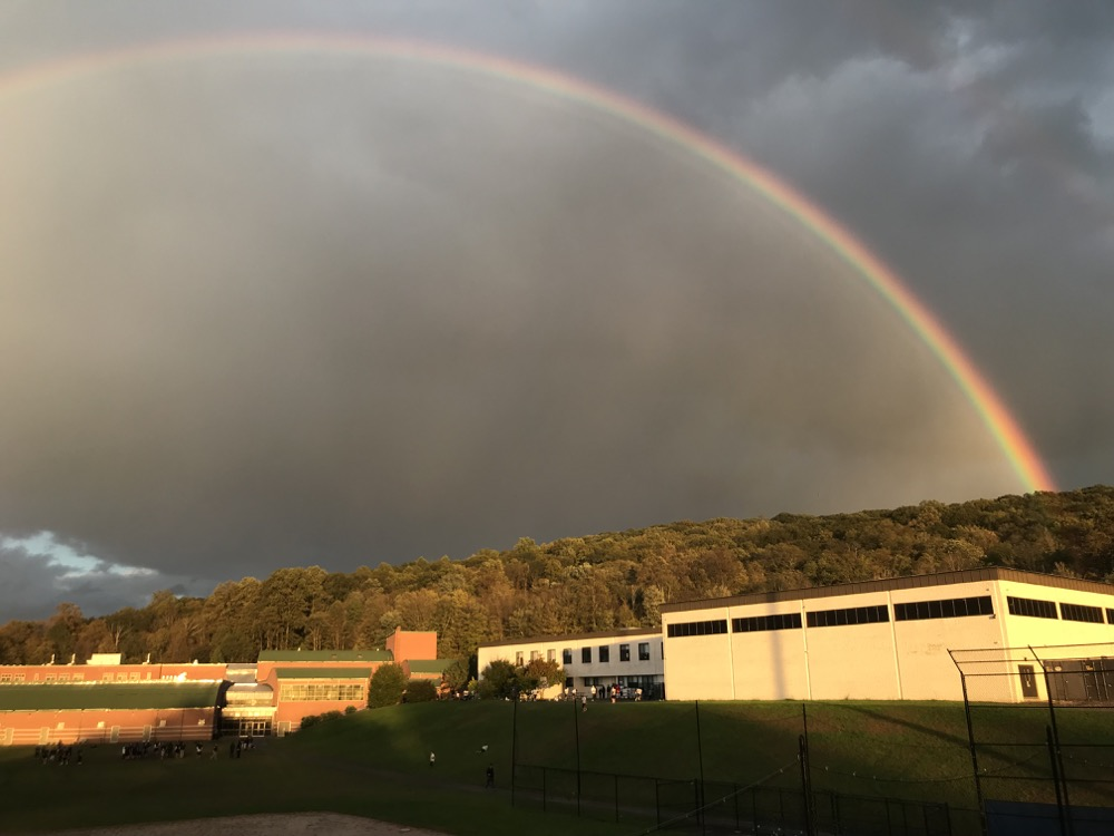 Rainbow Over High School