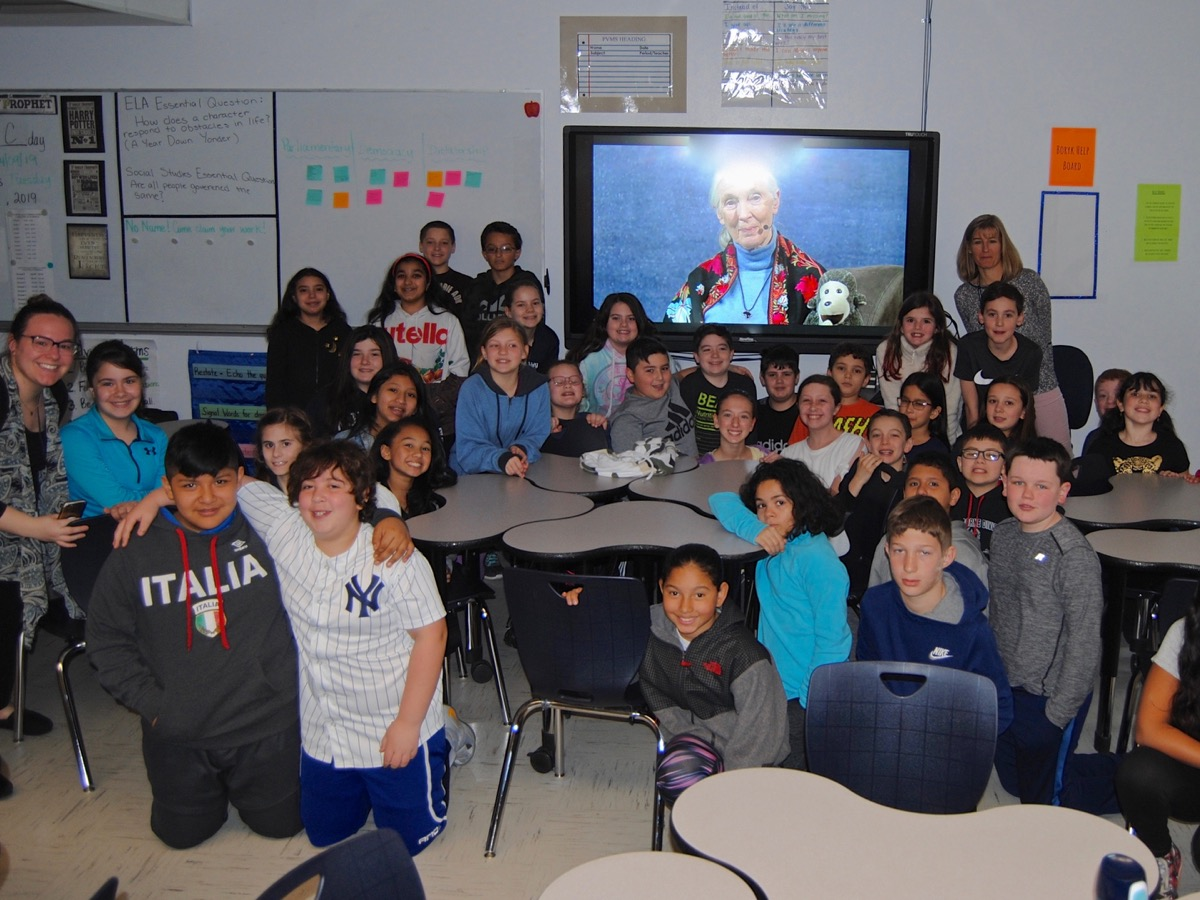 All of our PVMS 5th-graders participated in an on-demand learning opportunity with Dr. Jane Goodall