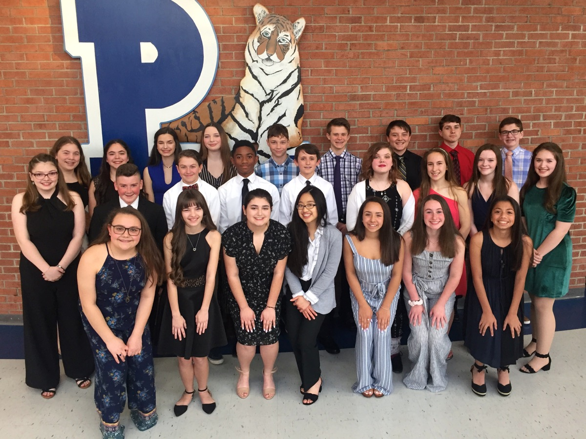 Congratulations to all 26 new members of the 2019 National Junior Honor Society.