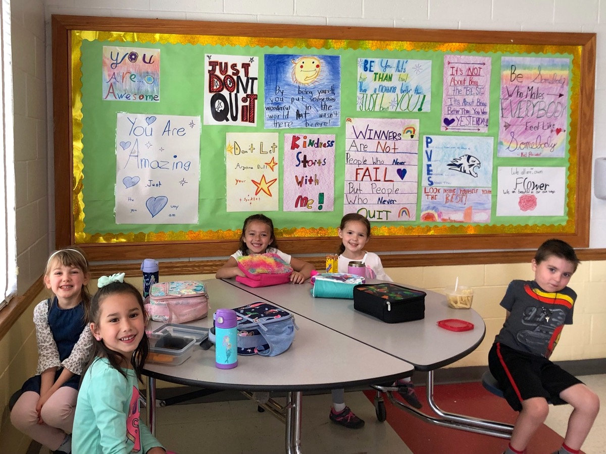 Kids of Character Club finished their inspirational bulletin board