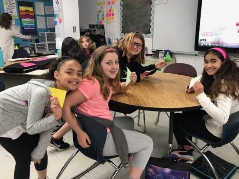 To celebrate Asian American and Pacific Islander Heritage Month, students held a tea celebration and learned to make origami.