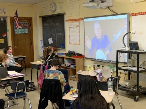 Thank you to our PTA Arts in Ed for providing all of our 4th Grade Classes with a curriculum-based, interactive virtual assembly today connecting History and Music! Our remote students participated along with our in-school learners in all of our 4th grade classes