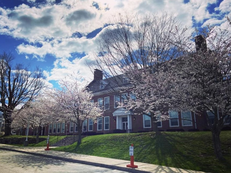 PVES Building in Spring