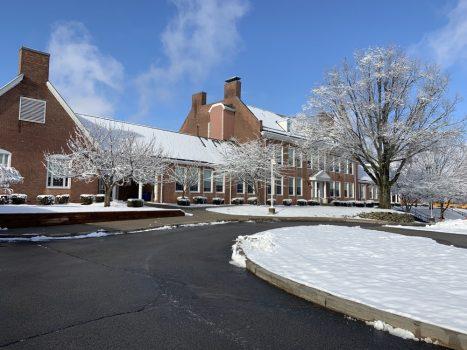 Elementary School on snowy day