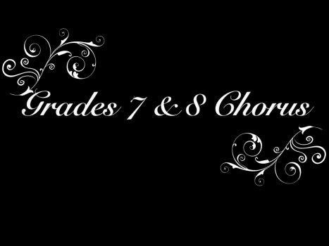 Grades 7&8 2021 Chorus Selections